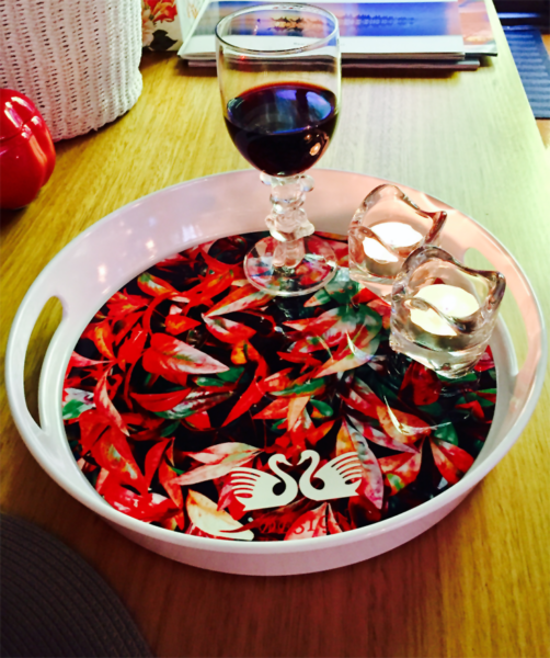 Chilli Leaves With Glass Of Wine And Candles