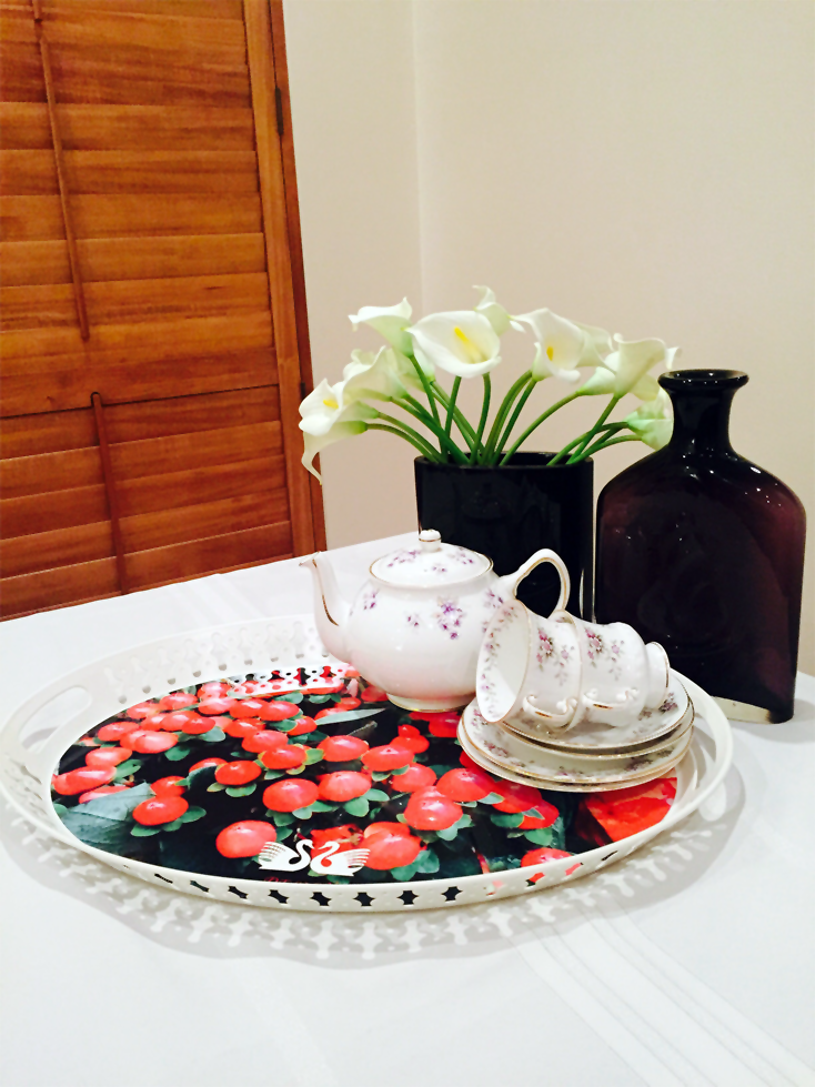 Winter Berries On Table With China And Vases 1