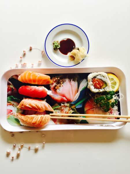 Sushi Tray With Food Horizontal