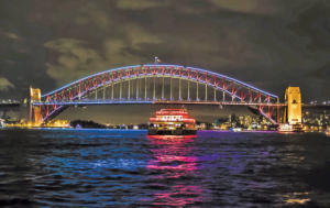 Harbour Bridge With Late Ferry